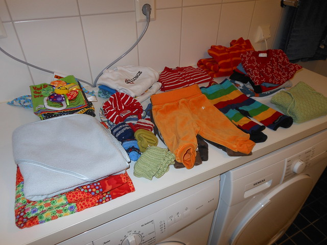 Tvättat lillebrors kläder