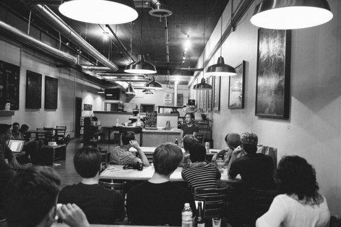 Cory Andreen at Quill's Coffee