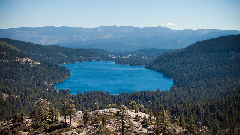 Donner Lake Overlook, McGlashan Point, old hwy40