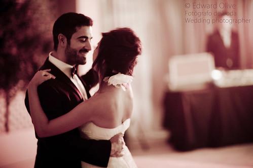 El primer baile de los novios - Copyright Edward Olive fotografo de bodas baile nupcial First dance in wedding by Edward Olive Fotografo de boda Madrid Barcelona