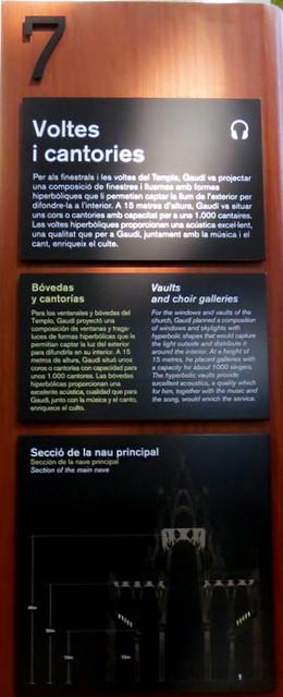 Vaults & Choir Galleries, Sagrada Familia