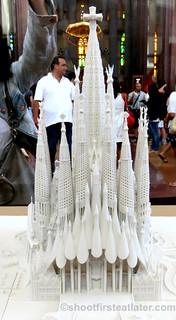Finished model of Sagrada Familia