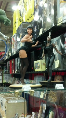 Betty Page and Storm Statues at Baltimore Comic-Con 2012