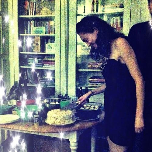 Yummy birthday cake. I think. Hard to tell after 160 proof vodka.