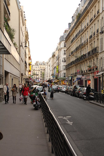 Walking down Rue Cler