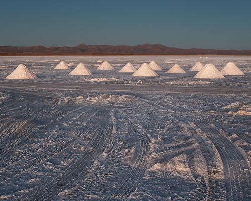Colchani salt cones