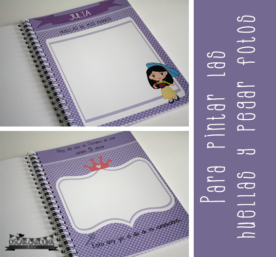 interiores album personalizado princesas