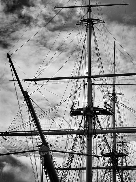 The Old Warrior, ships rigging