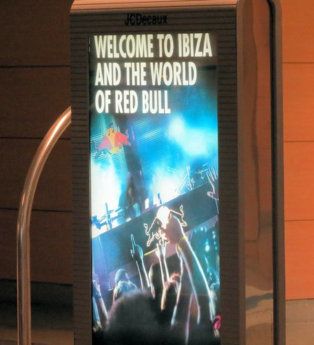 Red Bull Advertisement in Ibiza Airport