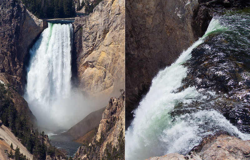 Lower Falls and the Brink of Lower Falls, Grand Canyon of the Yellowstone