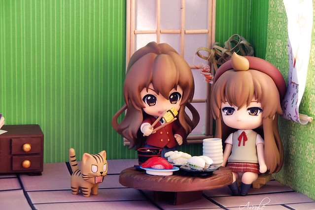 """""""Time to lunch for Chiaki and Taiga!"""" by Avryle"""