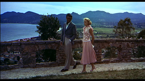 """Grace Kelly's pink dress in """"To catch a thief"""", 1955"""