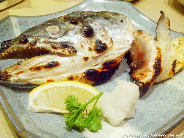 6.salmon head @ zanmai sushi RM 12.80 half salmon head grilled with salt