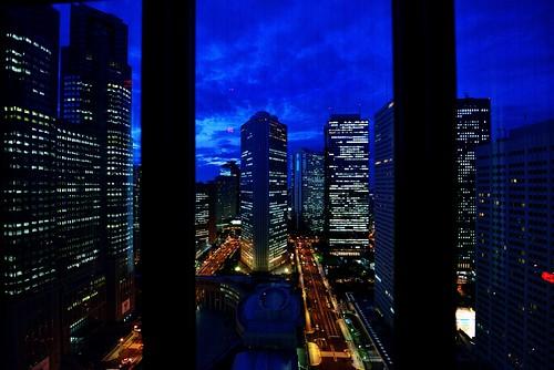 Day 247/366 : Nishi-Shinjuku In Blue by hidesax