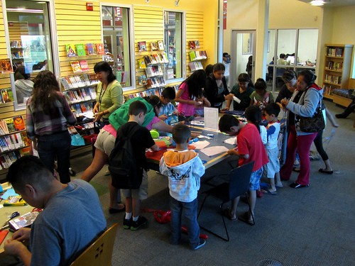 Crafting event at the San Jose Library; posted by the San Jose Library on flicker Commons.
