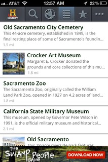 HISTORY Here iPhone App-List Page