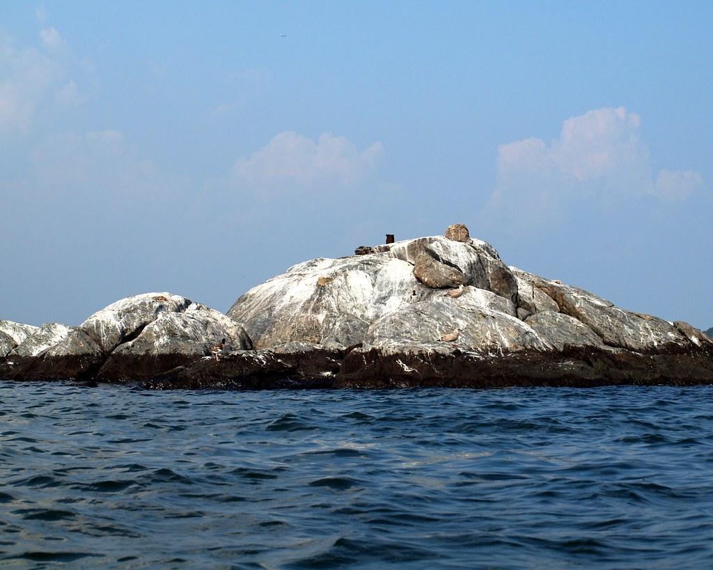 Chimney Sweeps Island (east) on Long Island Sound, New York City