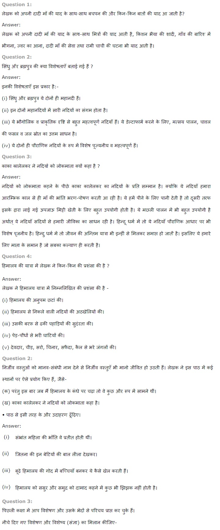 NCERT Solutions for Class 7th Hindi Chapter 3 हिमालय की बेटियां PDF Download