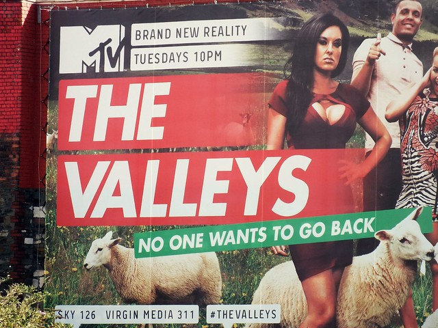 MTV The Valleys poster at Cardiff Central