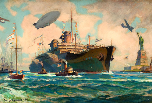 1945 ... returning troops - S.S. America by x-ray delta one