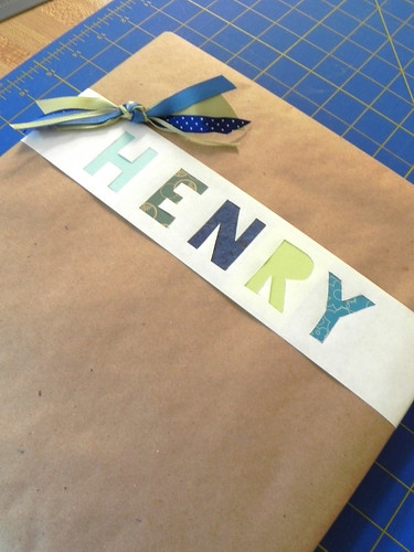 Block Letter Gift Wrapping