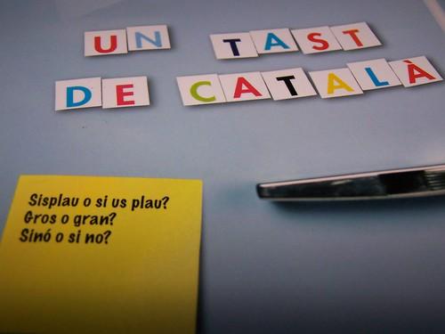 """Portada  """"Un tast de català"""""""