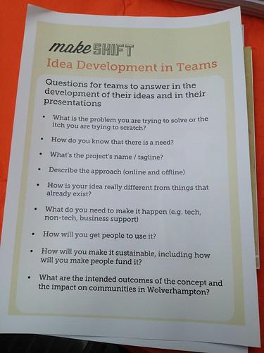 Info for idea development