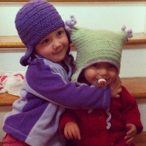 Girls in #crochet #hat