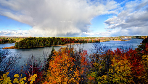 Changing Skies over the Au Sable HDR
