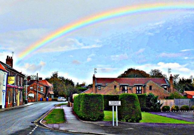 Rainbow in Station Beer Garden