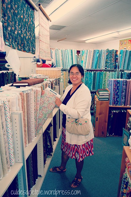 fabric shopping with Kim