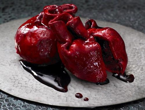 corazones cupcake