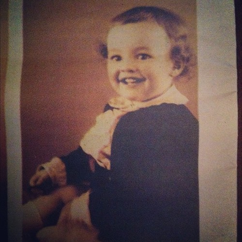 My grandfather, almost 2 years old. Way too cute!