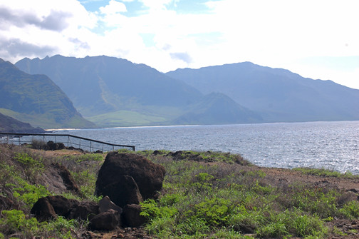 coastline from Kaena Point