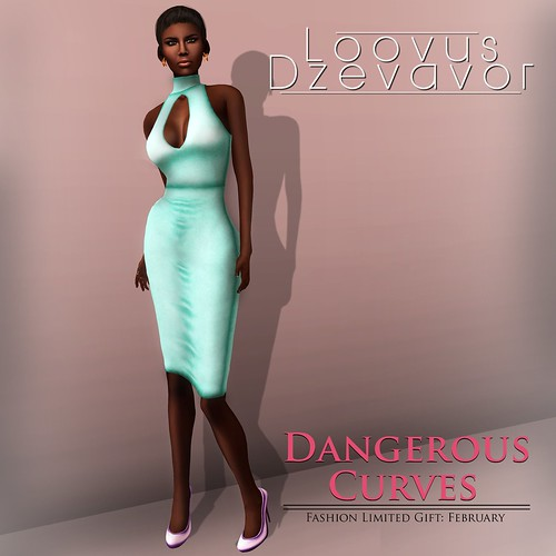 Loovus Dzevavor Dangerous Curves Dress  Fashion Limited Gift by AVENUE Models
