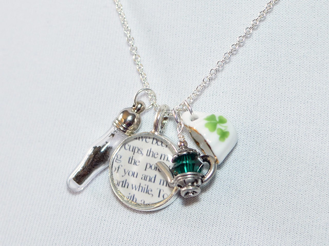 Tea with Prufrock Charm Necklace by Ciarrai Studios