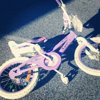 Great New bike for Hannah for $10 from salvation army. Live thrifted bargains!