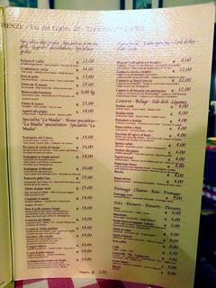 Trattoria La Madia menu-001