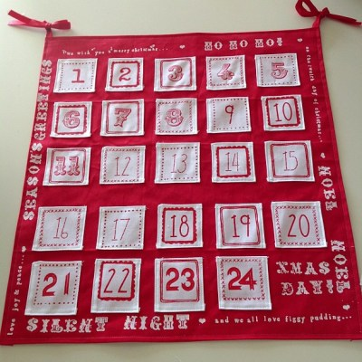 Our new advent calendar all finished