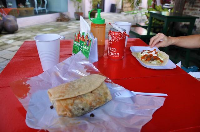 Carne Asada Burrito and Taco
