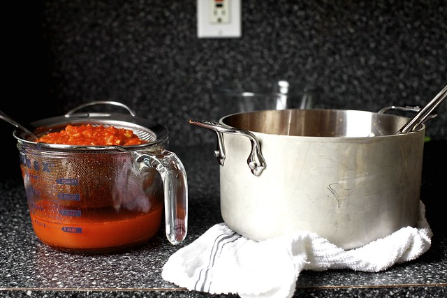 a hearty tomato soup's elegant leavings