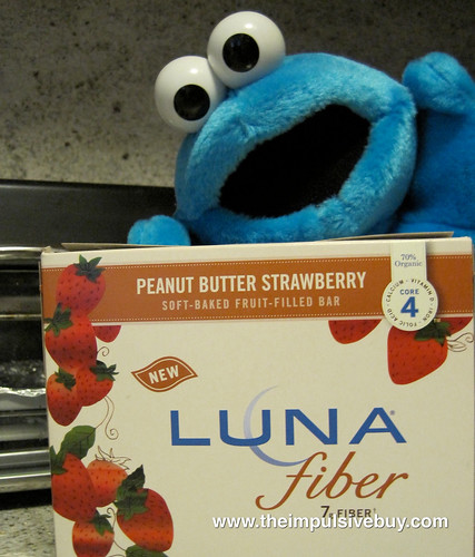 Peanut Butter Strawberry Luna FIber Bars Cookie Monster