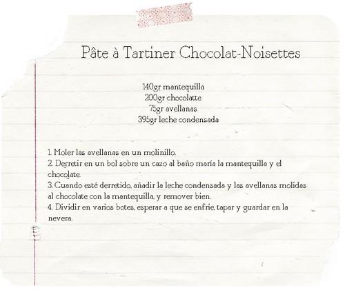receta nutella
