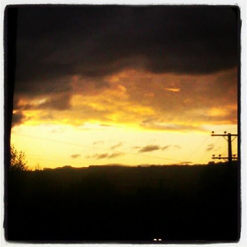 Flaming skies...