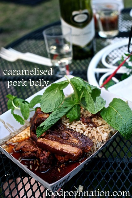 carmalised pork belly