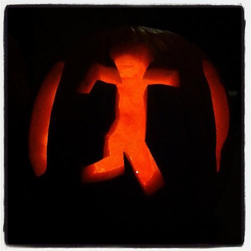 Elliott's pumpkin.