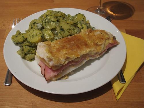 Fischfilet Schweizer Art mit grünem Kartoffelsalat