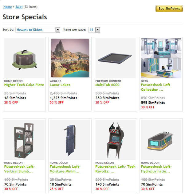 Sale! - Store - The Sims™ 3