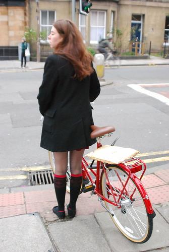 Shiny new red bike