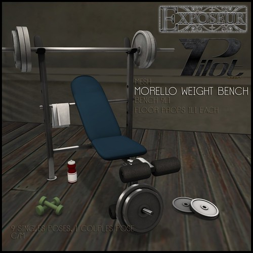 Pilot and Exposeur - Morello Weight Bench